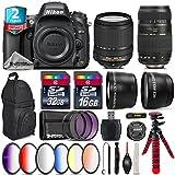 Holiday Saving Bundle for D610 DSLR Camera + 18-140mm VR Lens + Tamron 70-300mm Di LD Lens + 2.2x Telephoto Lens + 0.43x Wide Angle Lens + 6PC Graduated Color Filer Set - International Version