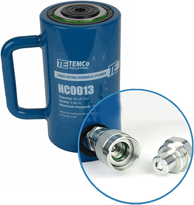 5 YEAR Warranty TEMCo HC0004 Hollow Hydraulic Cylinder Ram 60 TON 4 In Stroke