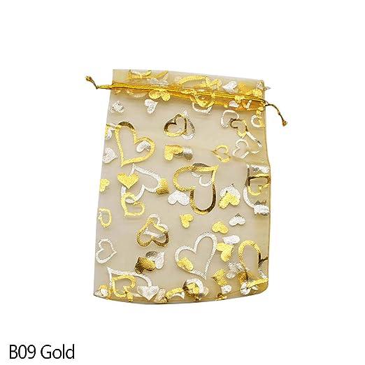 Romantic-cottage 20 Bolsas de Regalo de Organza de 7 x 9 x ...