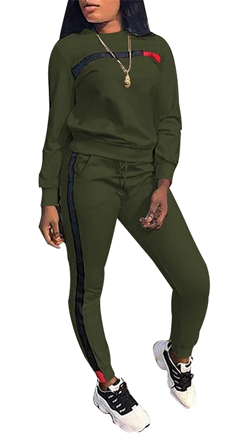 Womens Jogging Suits Pullover Hoodie Sweatshirt Hollow Out Skinny Long Pants Tracksuits Set 2 Pieces Outfits