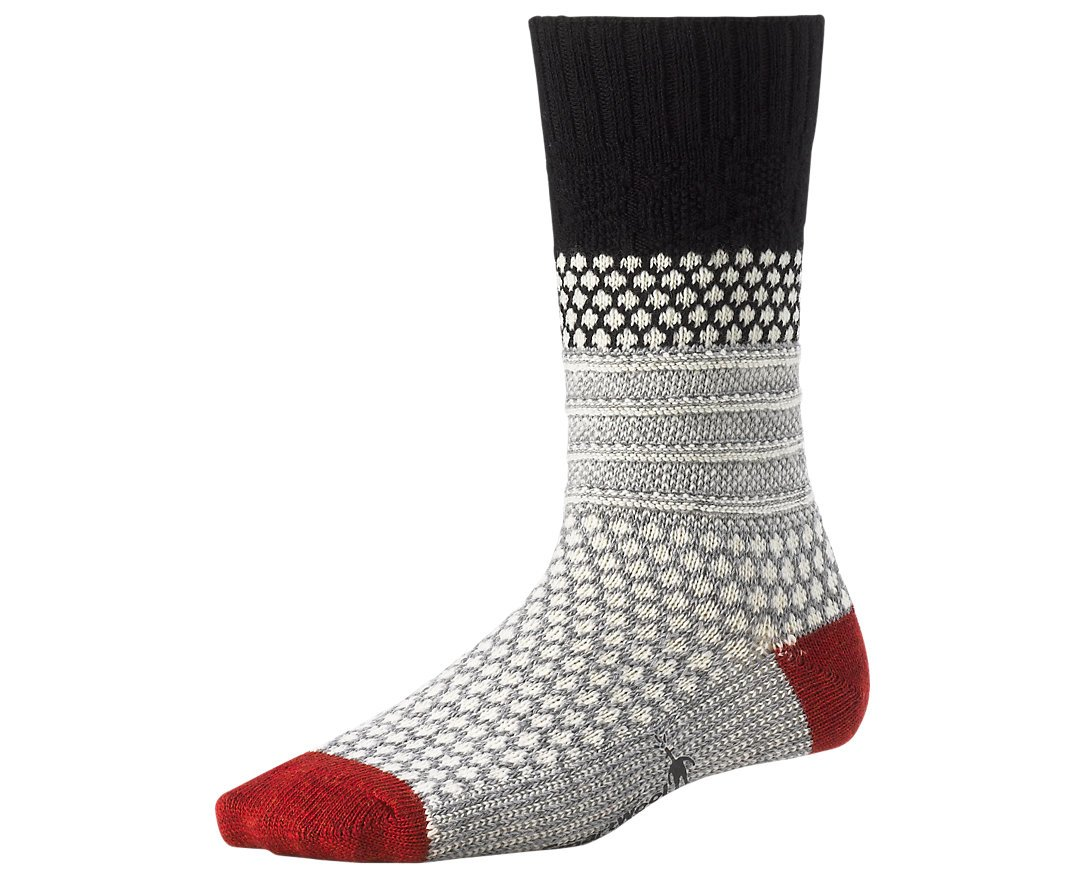 SmartWool Women's Popcorn Cable Lifestyle Socks (Black) Large