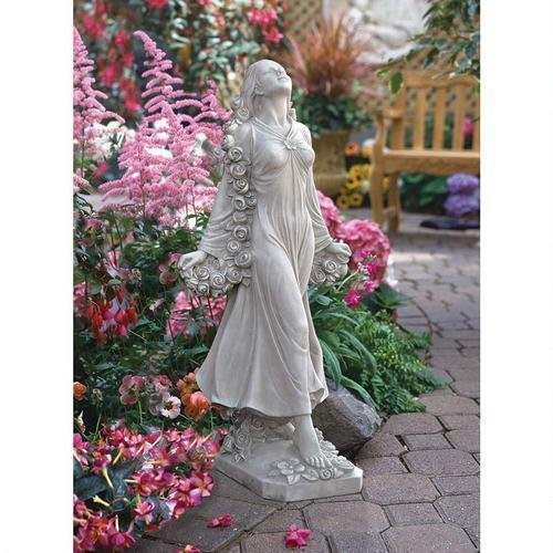 Flora Divine Patroness Of Gardens Statue Design Goddess Statue Flowers by Statues