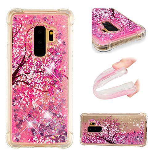 Galaxy S9 Plus Case, UZER Shockproof Series Cartoon Cute Bling Quicksand Liquid Moving Flowing Twinkle Glitter Shining Sparkle Diamond TPU Bumper Protective Case for Samsung Galaxy S9 Plus (2018)
