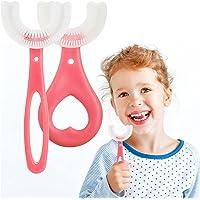 2 stks Kids U Shape Tandenborstel Food Grade Zachte Siliconen Borstel Hoofd 360 ° Orale Tanden Reiniging Hele Mond…