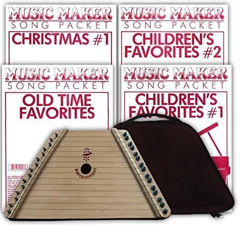 Music Maker Lap Harp Collection Special: Lap Harp, Case, 4 Songsheet Packs: Childhood Favorites #1 and #2, Old-time Tunes, and Christmas Carols