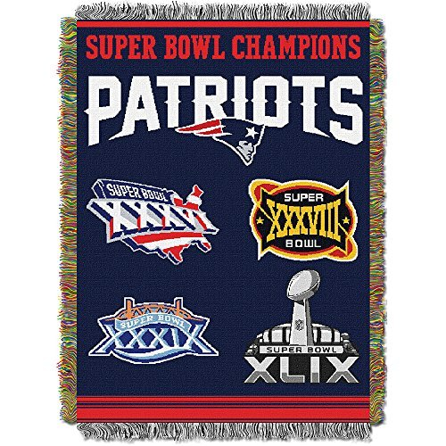 Patriots Tapestry New England (Northwest NFL 051 Series New England Patriots 48x60 Commemorative Tapestry Throw)