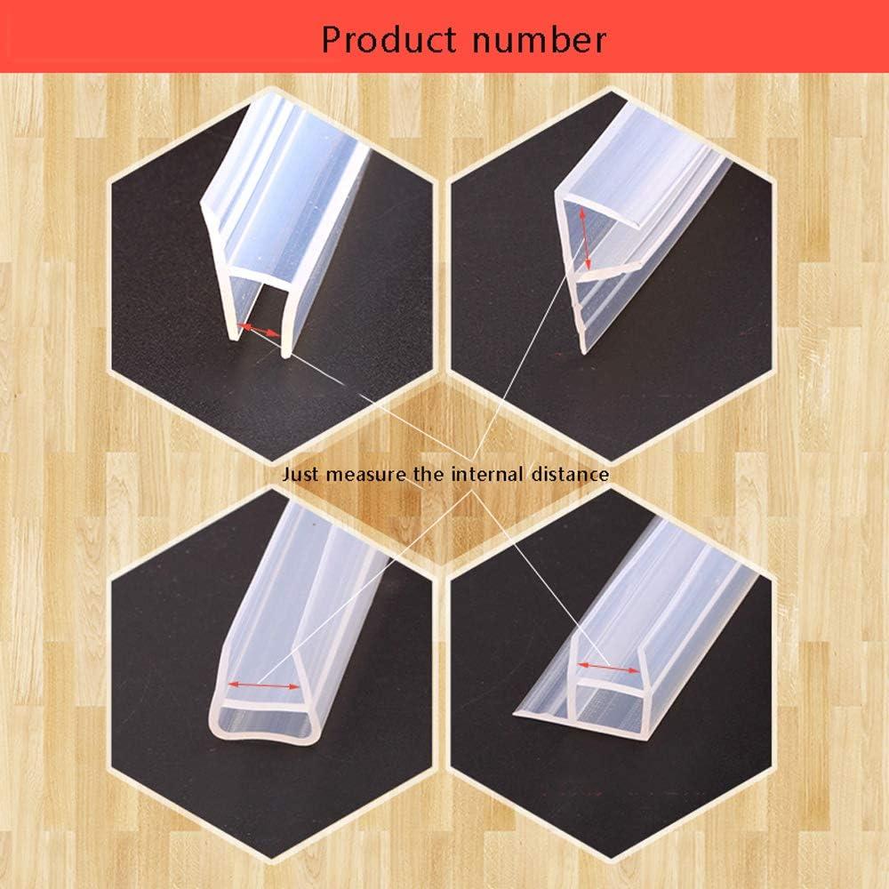 MELAG Junta para mampara de Ducha de 6 a 12 mm,para Vidrio Recto o Curvado,Buen Aislamiento t/érmico,Aislamiento ac/ústico