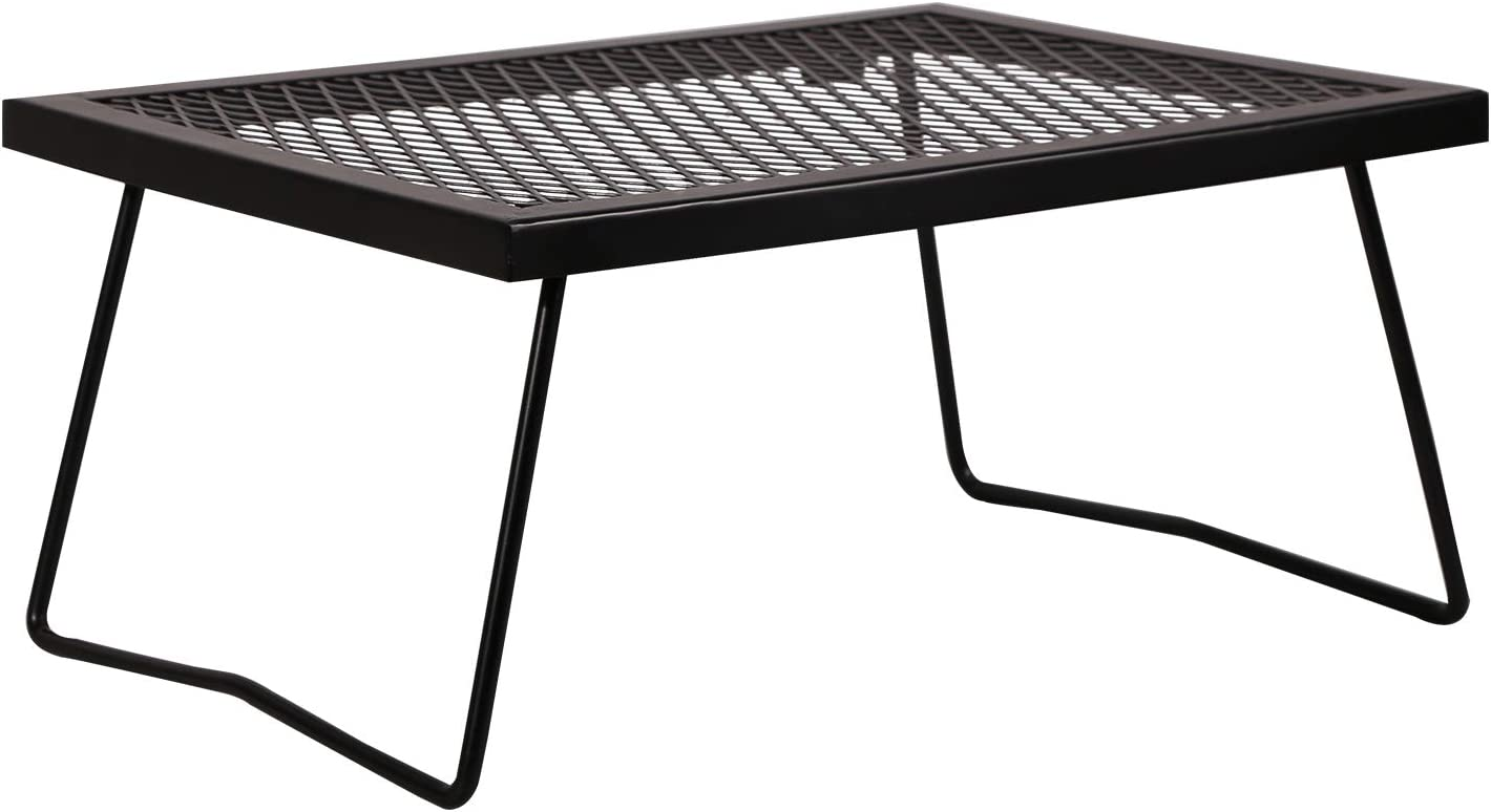 REDCAMP Folding Campfire Grill Heavy Duty Steel Grate, Portable Over Fire Camp Grill for Outdoor Open Flame Cooking