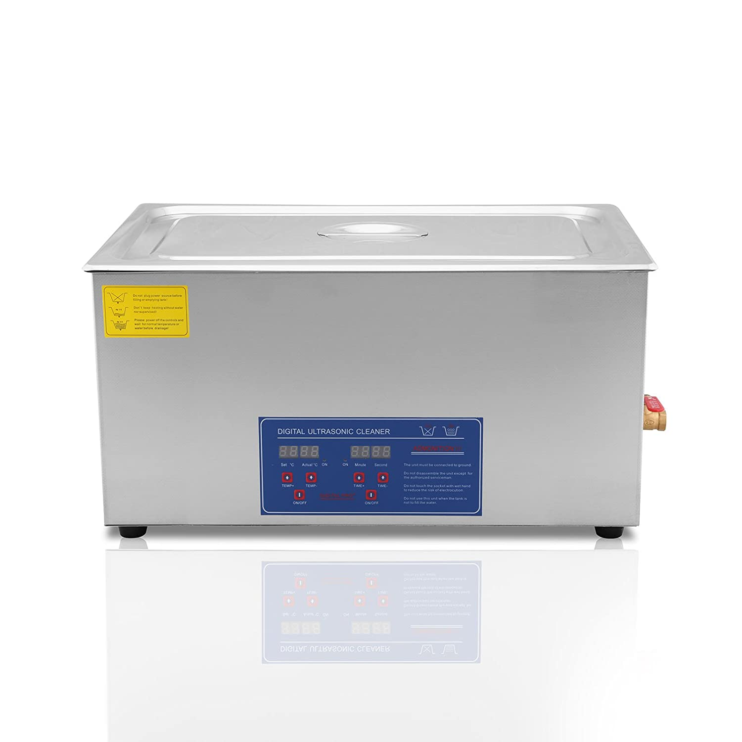 VEVOR Commercial Ultrasonic Cleaner 22L Ultrasonic Cleaner for Cleaning Eyeglasses Rings Large Capacity Heated Ultrasonic Cleaner