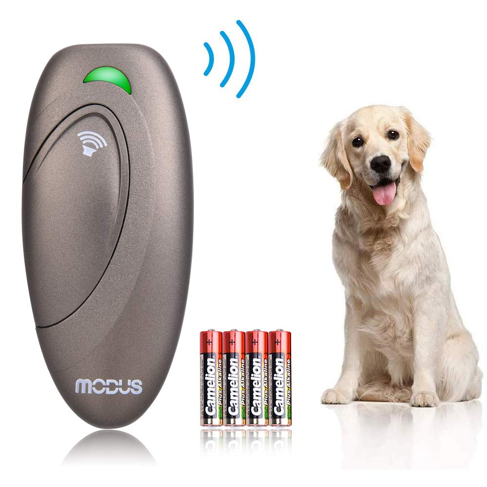 Modus Ultrasonic Bark Control Device, Anti Barking DeviceDog Training Aid 2 in 1 Control Range of 16.4 Ft W/Anti-Static Wrist Strap LED Indicate 100% Safe Walk a Dog Outdoor by Modus