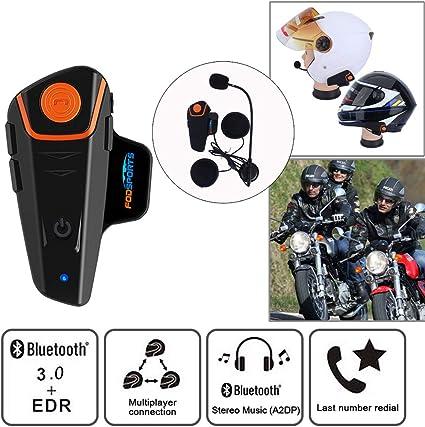 Intercomunicador casco moto Fodsports BT-S2 de la motocicleta del ...