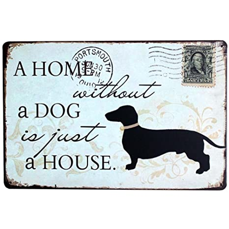 cosanter Vintage Perro Cartel de chapa Bar Home personalidad ...