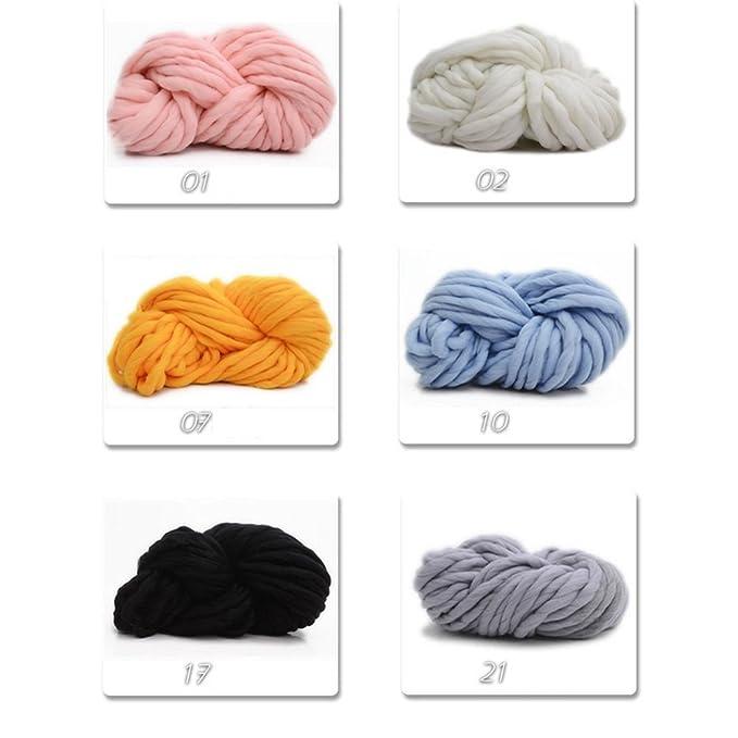 Amazon.com: MMRM Super Chunky – Ovillo para tejer de lana ...