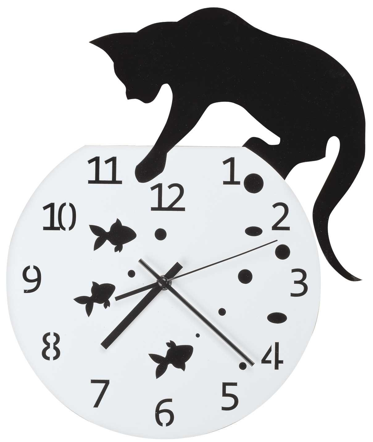 WalterDrake Fishbowl Cat Clock