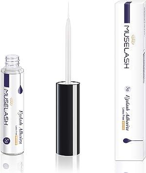 MUSELASH Latex Free False Eyelashes Glue Super Hold Clear Waterproof Strip Lashes Glue Hold Adhesives 5g 0.175oz Mink Lashes……