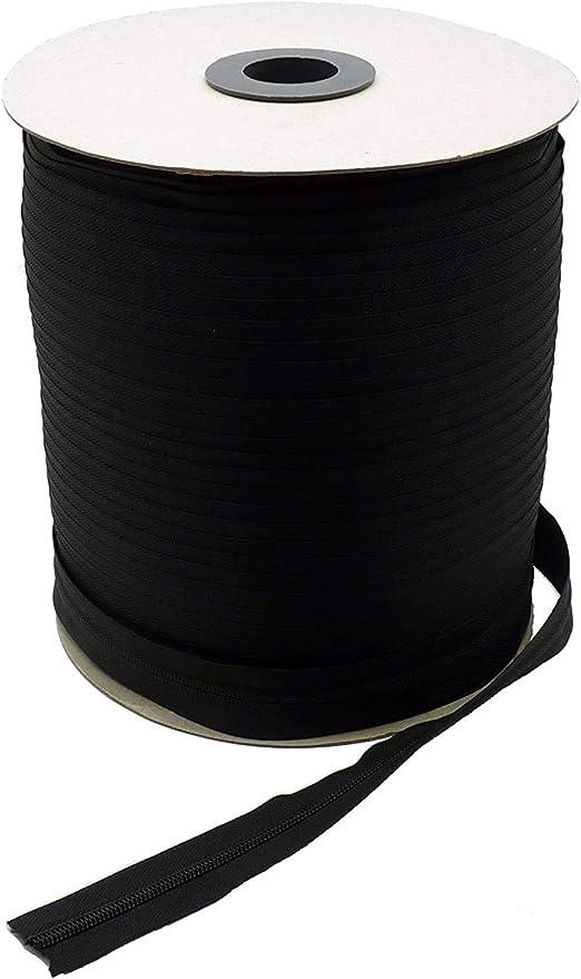 Negro Nailon Cremalleras para Costura Manualidades Bolsas TOMYEER Cremallera por Metros