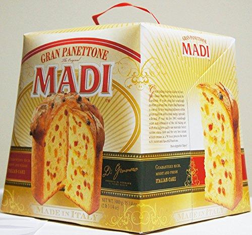GRAN PANETTONE MADI ITALIAN CAKE Net Wt 1 KG (2.2 Lbs) (MADE IN (1 Kg Cakes)