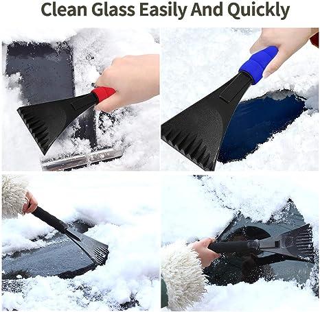 Homo Trends Ice Scraper for Cars Windscreen Scraper with Non-Slip Foam Handle Frost Snow Remover Frost Wiper For Winter Car Truck SUV