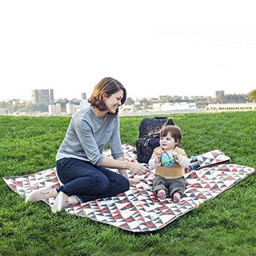 Skip Hop Baby Infant & Toddler Central Park Waterproof Convertible Outdoor Blanket & Detachable Cooler Bag, Multi Triangles by Skip Hop (Image #6)