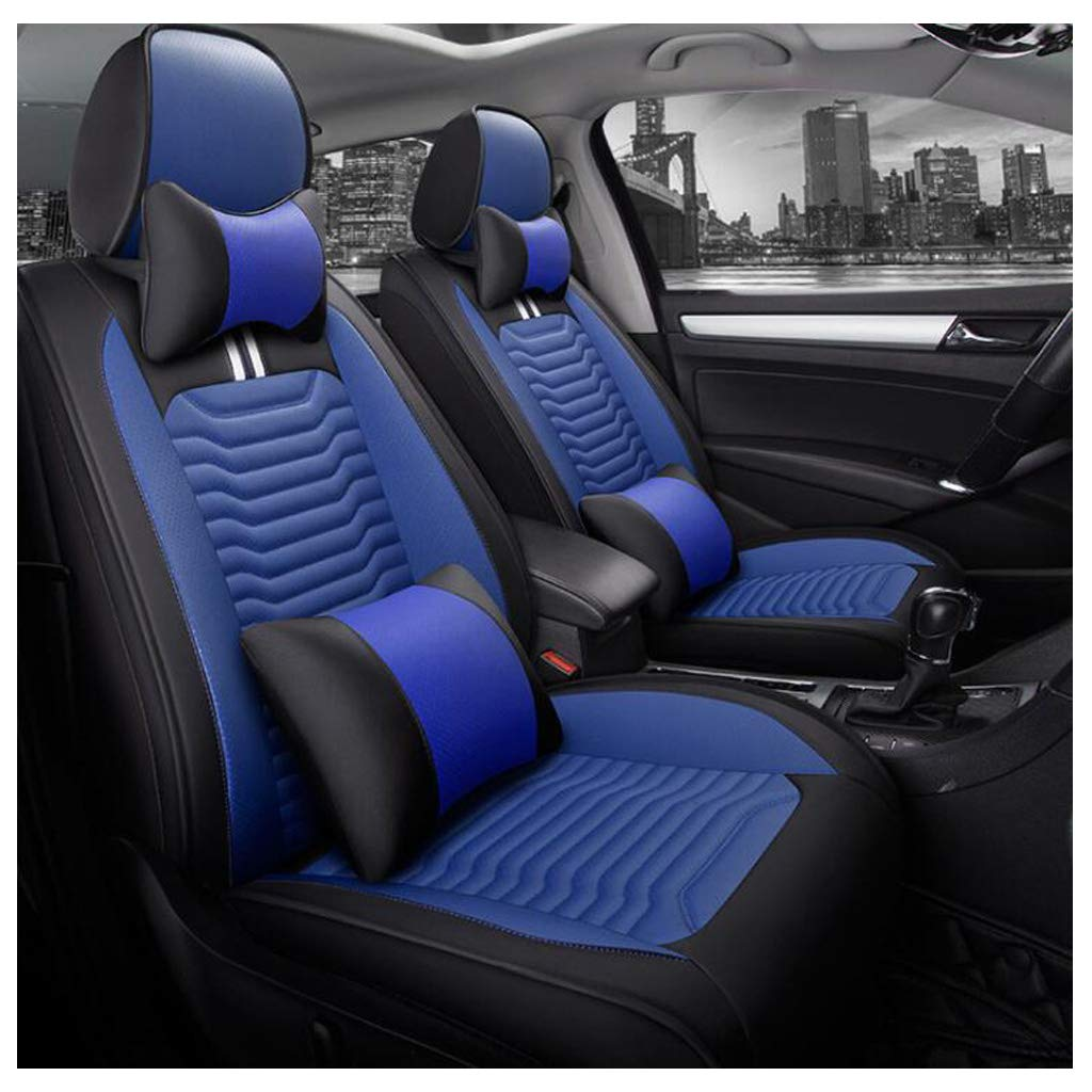 Universal Seat Cover Protectors Set Full Car Front and Rear for 5 Seats ADHW Luxury Leather Car Seat Cover Color : RED 9 Piece Set