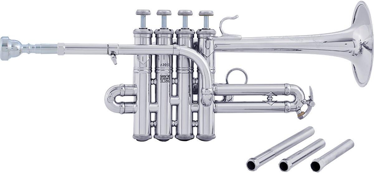 Bach AP190 Stradivarius Artisan Series Bb/A Piccolo Trumpet AP190S Plata (AP190S Silver): Amazon.es: Instrumentos musicales
