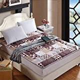 DHWJ Thickened,tatami,mattress/single,double,student dormitory,bed cushion -A 150x200cm(59x79inch)