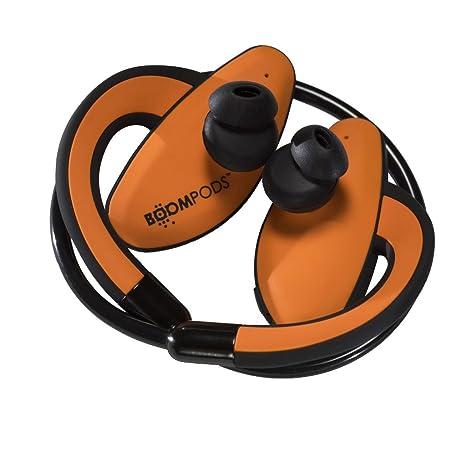Boompods Sportpods - Auriculares con Bluetooth, Color Naranja y Verde