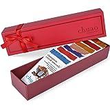 Chocolate Gift Set - Chuao Chocolatier Taste the Joy 8 Piece Gift Set (.39 oz mini bars) - Best-Selling Variety Pack - Gourmet Artisan Milk and Dark Chocolate Assortment - Free of Artificial Flavors