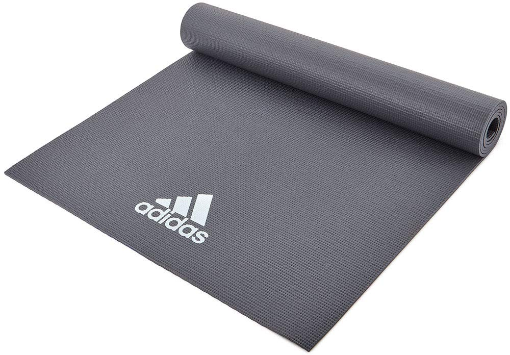 Detener Objetor Contra la voluntad  Adidas Foam Yoga Mat 4mm - Others (Dark Grey) 4mm Thiking, Offers Both  Cushioning and A Solid Grounding: Amazon.in: Sports, Fitness & Outdoors