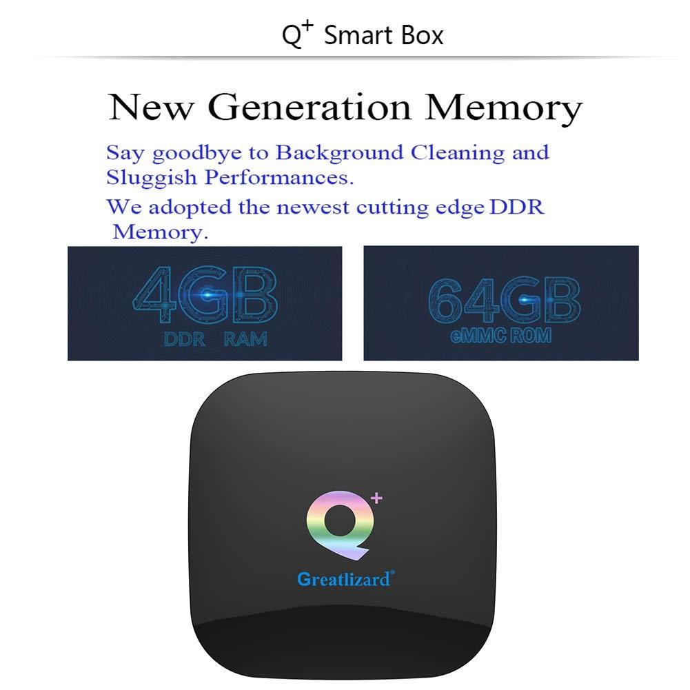 Greatlizard Android 9.0 Q Plus TV Box 4GB RAM 64GB ROM 4K HD H6 Quad Cord 2.4G WiFi Smart TV Box by Greatlizard (Image #3)