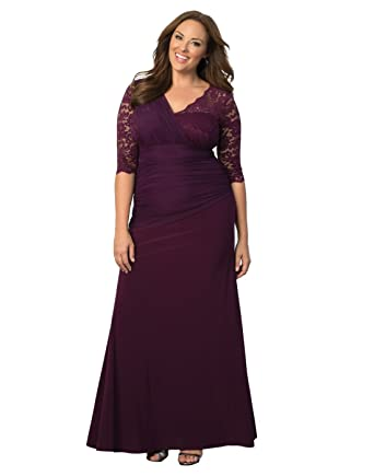 5b12587ccfa Kiyonna Women s Plus Size Soiree Evening Gown at Amazon Women s ...