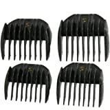 3mm 6mm 9mm 12mm Cutting Length Clipper Guide Comb Black 4 Pcs