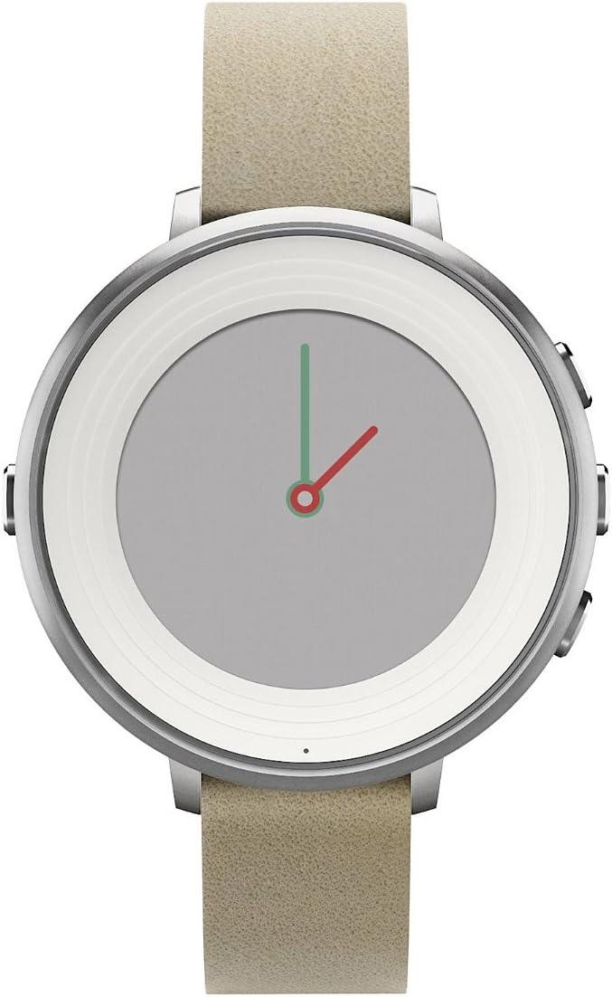Pebble Time Round,14mm plata/Stone: Amazon.es: Electrónica