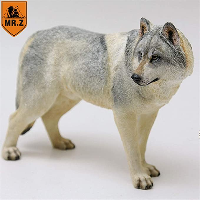 Mr.Z 1//6 Steppe Wolf Figure Canis lupus Linnaeus Wild Animal Model Toy Collector