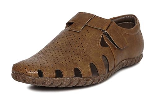 24598bbc0e9c San Frissco Men s Leather Outdoor Sandals  Buy Online at Low Prices ...