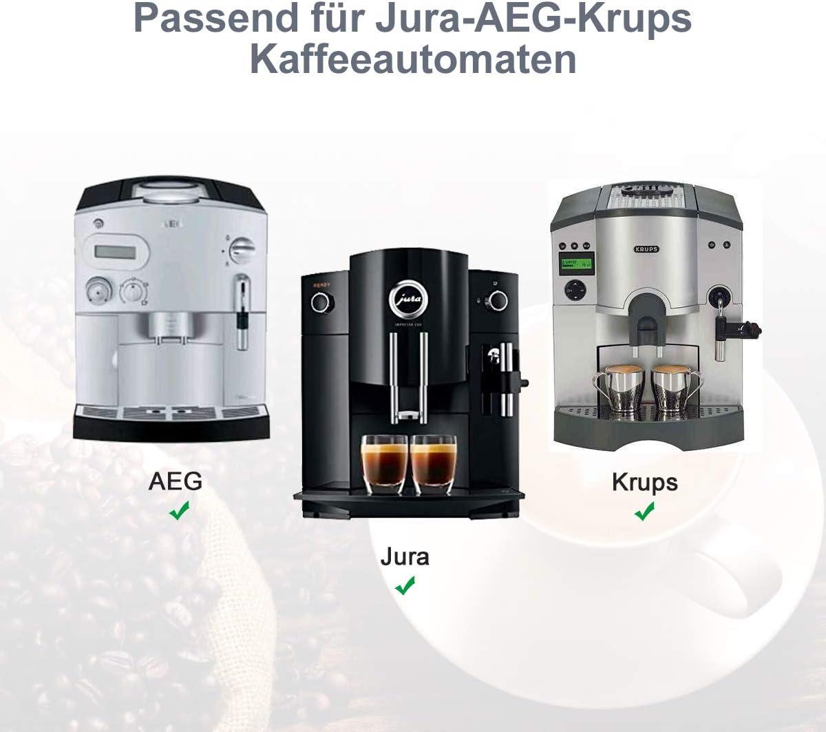 Aieve Llave de cabeza ovalada para reparar cafeteras automáticas Jura, Krups, AEG ohne Schlüsselring