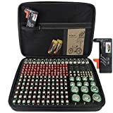250+ All Battery Organizer Case, KIXDA Large