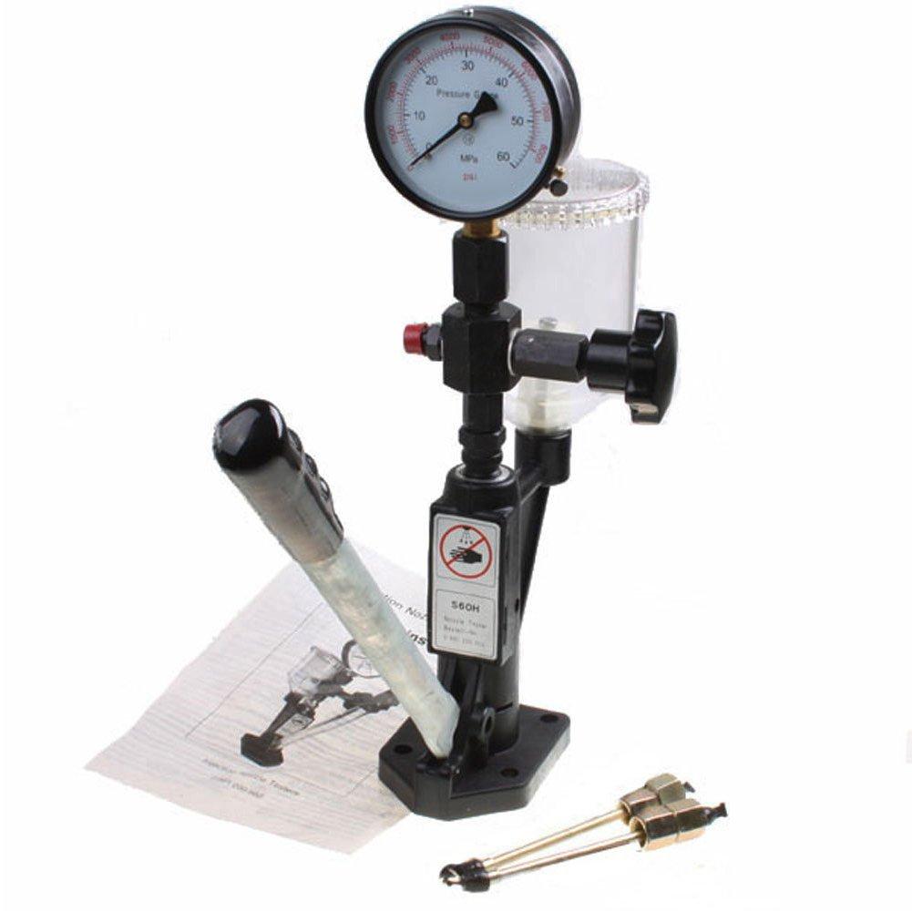 Diesel Injector Nozzle Pop Pressure Tester Dual gauge Bar/PSI With Lines