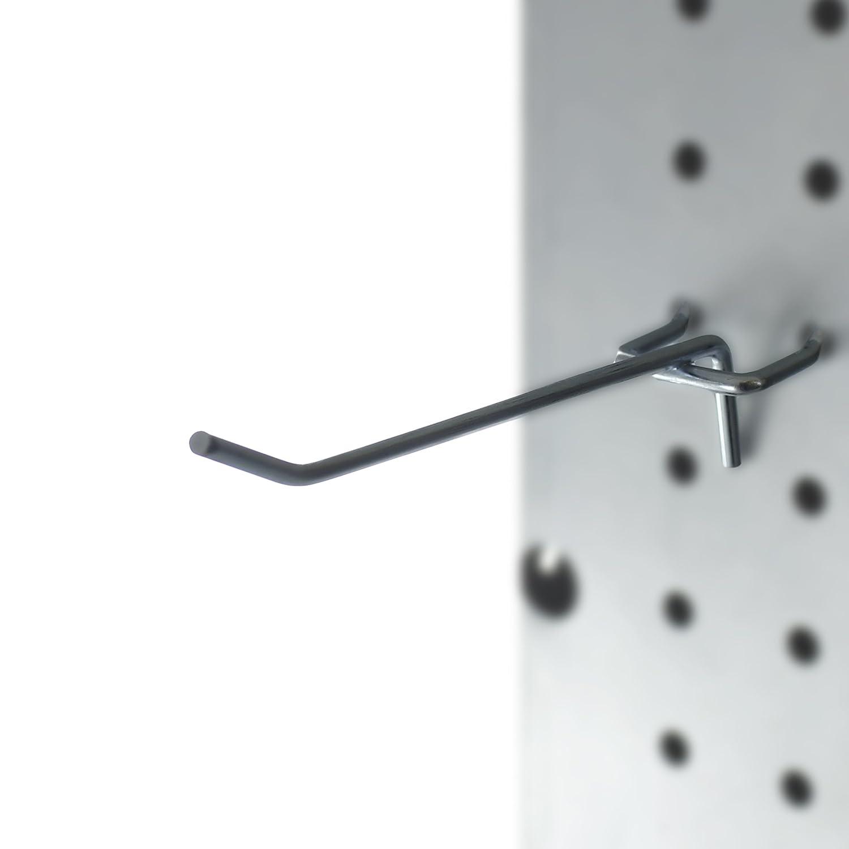 Presa CP40002-25PK Metal Peg Board Shelving Hooks, 4-Inch, 25-Pack Capri Tools