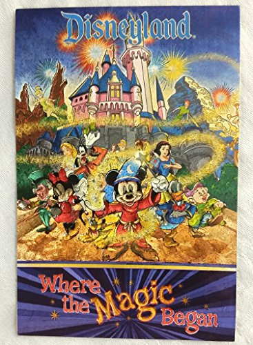 Disneyland Promo POST CARD 4 x 6 inches Beautiful Discontinued