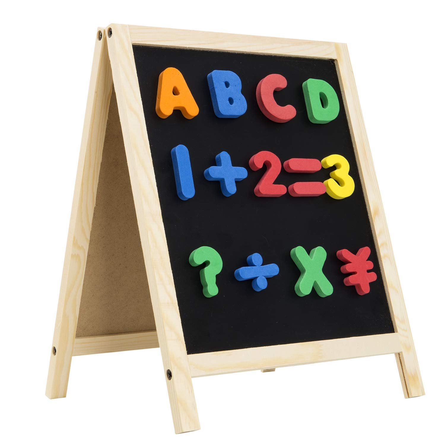INNOCHEER Easel for Kids, Magnetic Wooden A-Frame Standing Board - Whiteboard & Chalkboard for Boys and Girls Writing, Drawing & Home Decoration by INNOCHEER