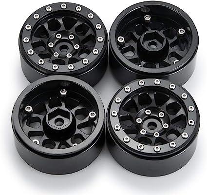 4PCS RC Crawler White Metal Wheel Rims 1.9/'/'Beadlock For 1//10 Axial SCX10 D90
