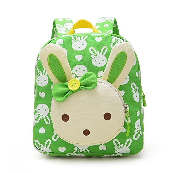 e56b03b4352d Skyflying Rabbit Animals Kids Book Backpack Baby Girls School Bag Green
