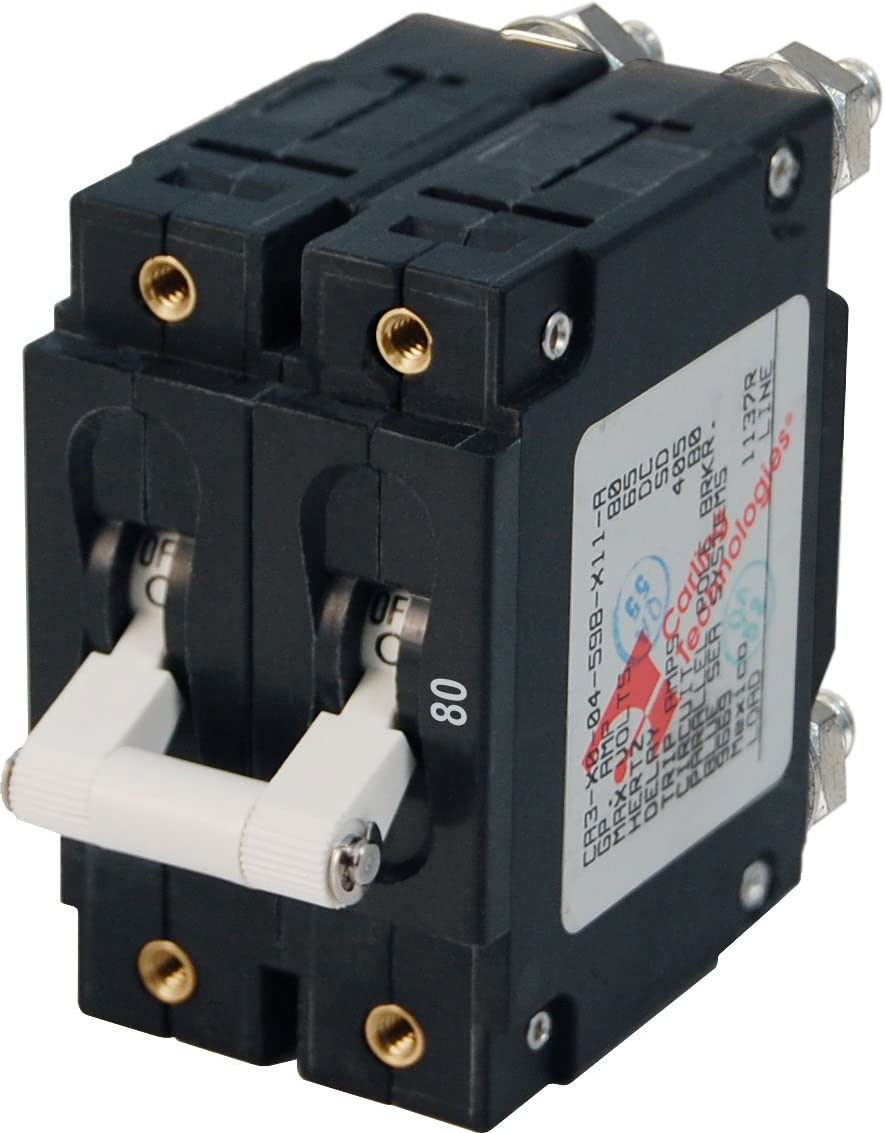 Blue Sea Systems C-Series Double Pole Toggle Circuit Breakers