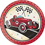 "Vintage Race Car Birthday Party Bundle 9"" Plates"