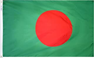 product image for Annin Flagmakers Model 190565 Bangladesh Flag 3x5 ft. Nylon SolarGuard Nyl-Glo 100% Made in USA to Official United Nations Design Specifications.