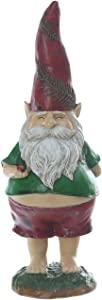 Resin Gnome Statues Polystone Figurine Spring Summer Ornaments for Home or Outdoor Garden Decoration