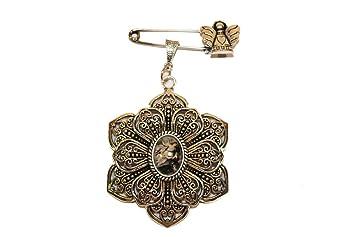 Medalla con imperdible y angelito | Es ideal para colgar en cunas o carros y así proteger al bebé | Perfectamente presentada para regalo.: Amazon.es: Bebé
