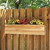 Rectangle Teak Wood Sunshine Flower Box