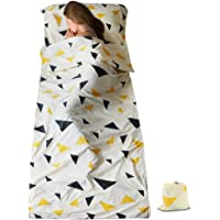 SueH Design Doublure de Sac de Couchage Légère et Longue en Coton Aloès, pour Utilisation Adulte, dans Les Hôtels, Les Auberges et Les Activités Extérieures
